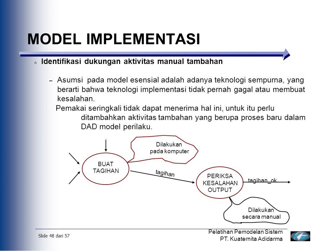 Slide 49 dari 57 Pelatihan Pemodelan Sistem PT.