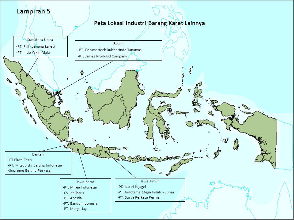 29 Peta Lokasi Industri Barang Karet Lainnya Banten -PT.Pluto Tech -PT. Mitsubishi Belting Indonesia -Supreme Belting Perkasa Jawa Barat -PT. Mirea In