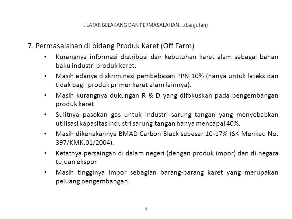 5 JENIS PENGUSA- HAAN 20022003200420052006 Luas Areal (ribu ha) Prod.