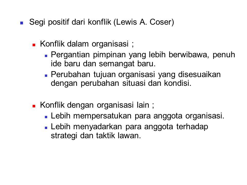 Segi positif dari konflik (Lewis A.