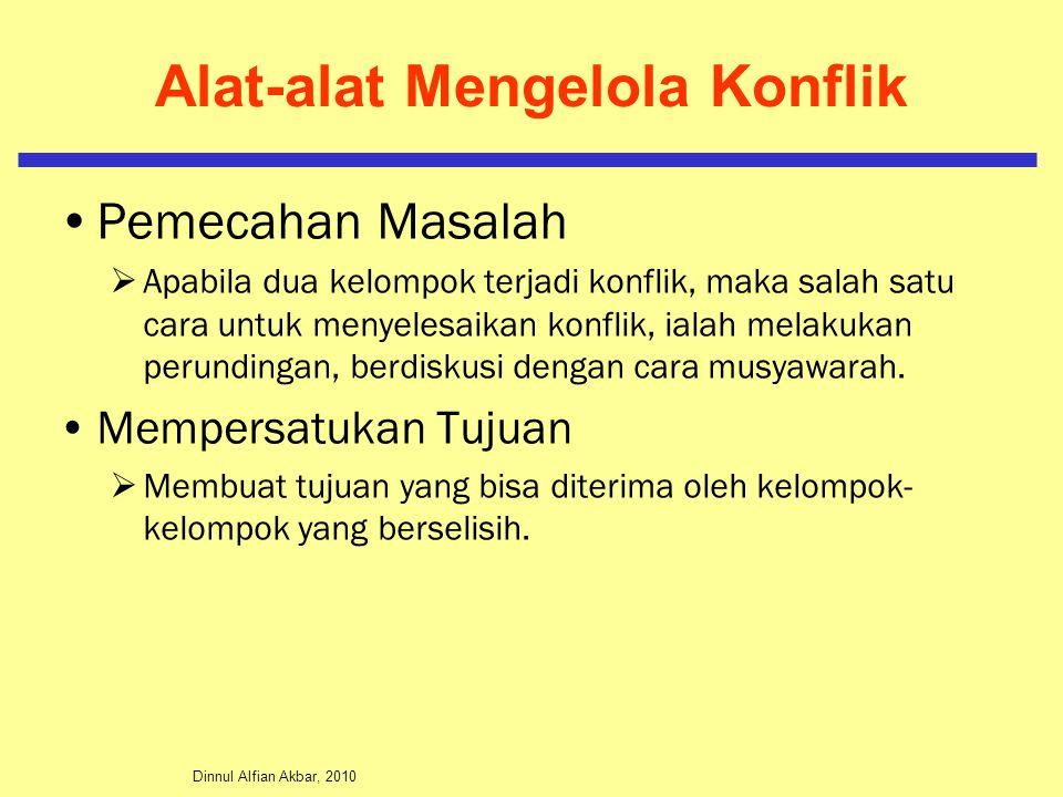 Dinnul Alfian Akbar, 2010 Alat-alat Mengelola Konflik Pemecahan Masalah  Apabila dua kelompok terjadi konflik, maka salah satu cara untuk menyelesaik