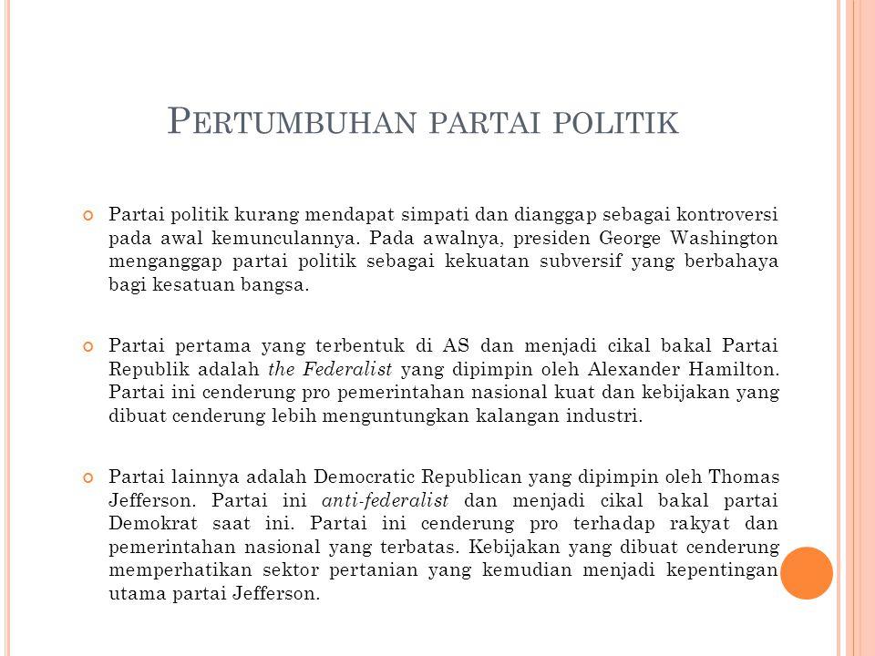 P ERTUMBUHAN PARTAI POLITIK Partai politik kurang mendapat simpati dan dianggap sebagai kontroversi pada awal kemunculannya.
