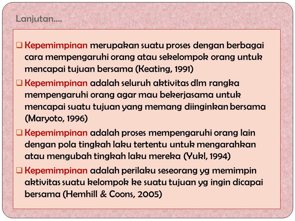Contoh Teori Contigency 1.VROOM/YETTON/JAGO : Leadeship Style Theory/ Normative Leadeship Model  Semula dikembangkan oleh Vroom & Yetton: gaya kepemimpinan ditentukan oleh jenis masalah yg dihadapi dan macam keputusan yg diambil, jd bersifat normatif.