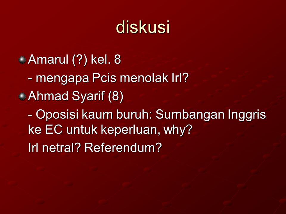 diskusi Amarul (?) kel.8 - mengapa Pcis menolak Irl.