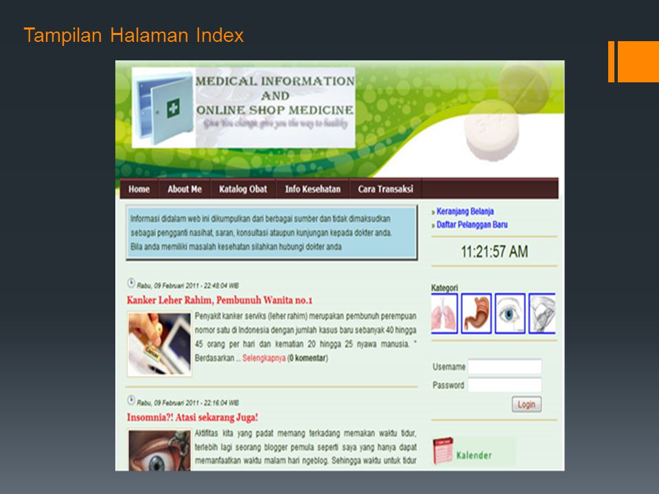 Tampilan Halaman Index