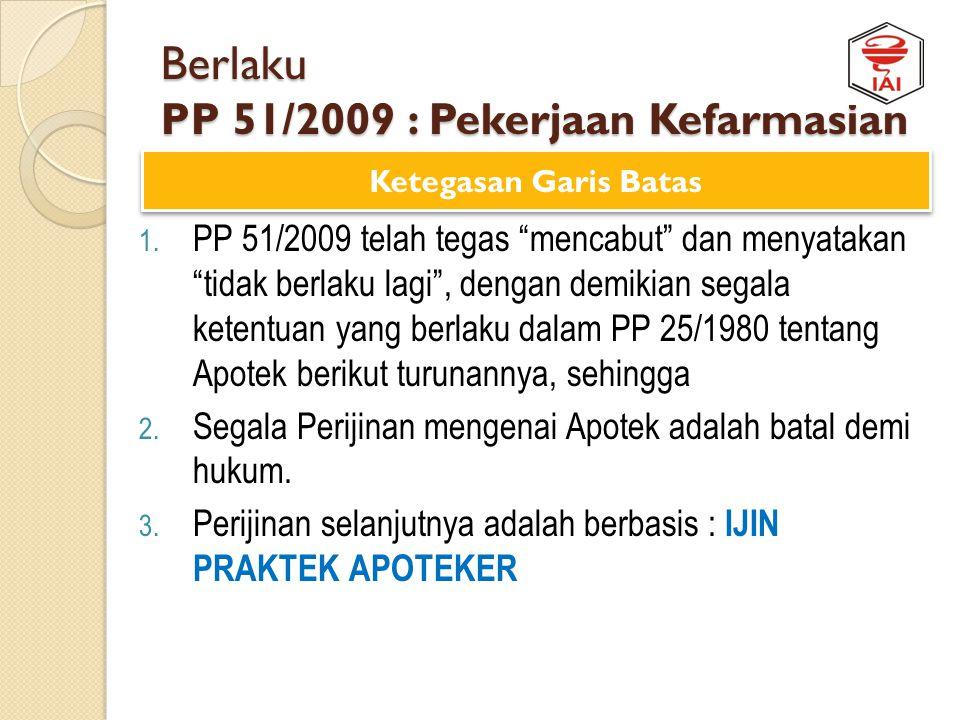 Preview UU No. 36 Th 2009 : Kesehatan Cakupan Larangan Pekerjaan Kefarmasian Non Tenaga Kefarmasian Dilan ggar ??? Pidana Denda Rp 100 juta