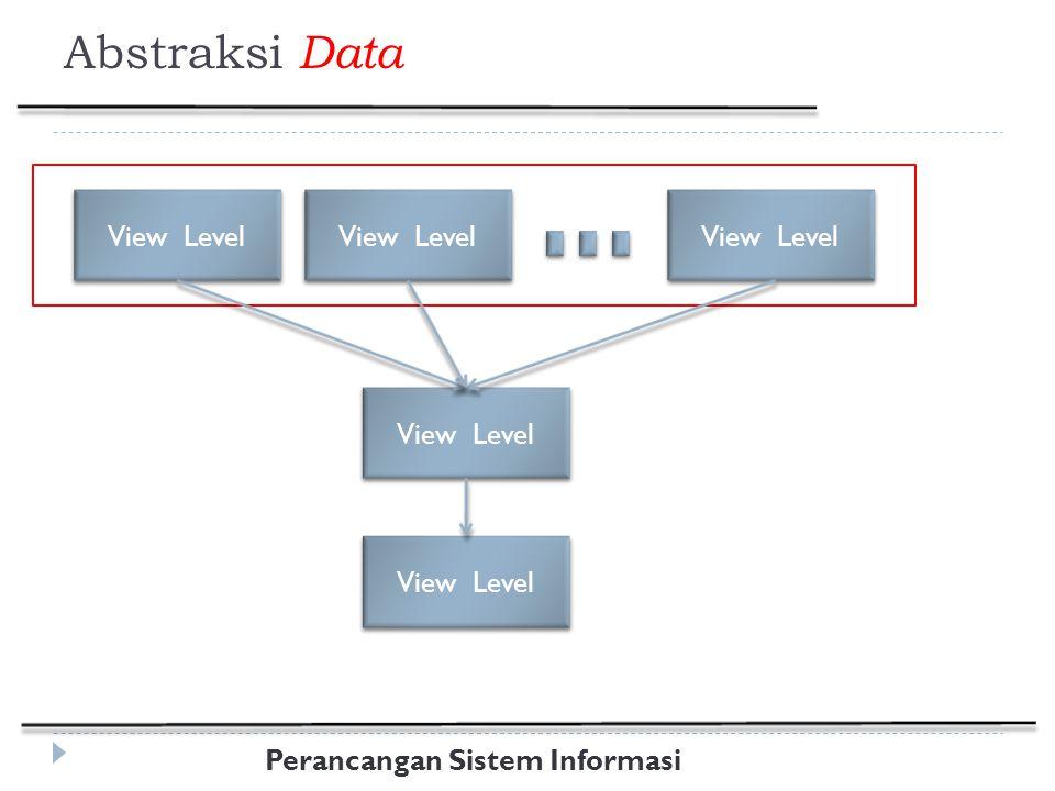 Perancangan Sistem Informasi Abstraksi Data View Level