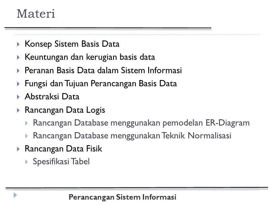 Perancangan Sistem Informasi Id_PelangganNamaSalesmanArea A-001AndiFarkanJateng A-002Kurnia JatiDianJabar B-001Fika DewiJonedJatim B-002Gani WirawanFarkanJateng C-001Cici KusumaJonedJatim Anomali penyisipan: Seorang salesman baru yang bertugas di Jateng tidak dapat dimasukkan dalam tabel sampai salesman tersebut mendapatkan seorang pelanggan Anomali penghapusan: Jika pelanggan A-002 dihapus, informasi bahwa Dian menangani daerah Jabar ikut hilang Anomali peremajaan: Jika katakanlah Farkan mendapat penugasan baru untuk menangani daerah Kalimantan, maka sejumlah baris harus diremajakan agar data tetap konsisten