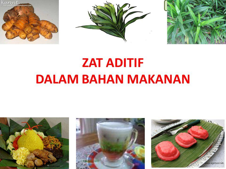 Lili Andajani, S.Pd, M.Pd ZAT ADITIF DALAM BAHAN MAKANAN