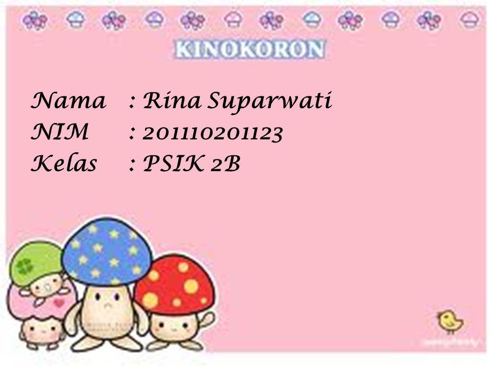 Nama: Rina Suparwati NIM: 201110201123 Kelas: PSIK 2B