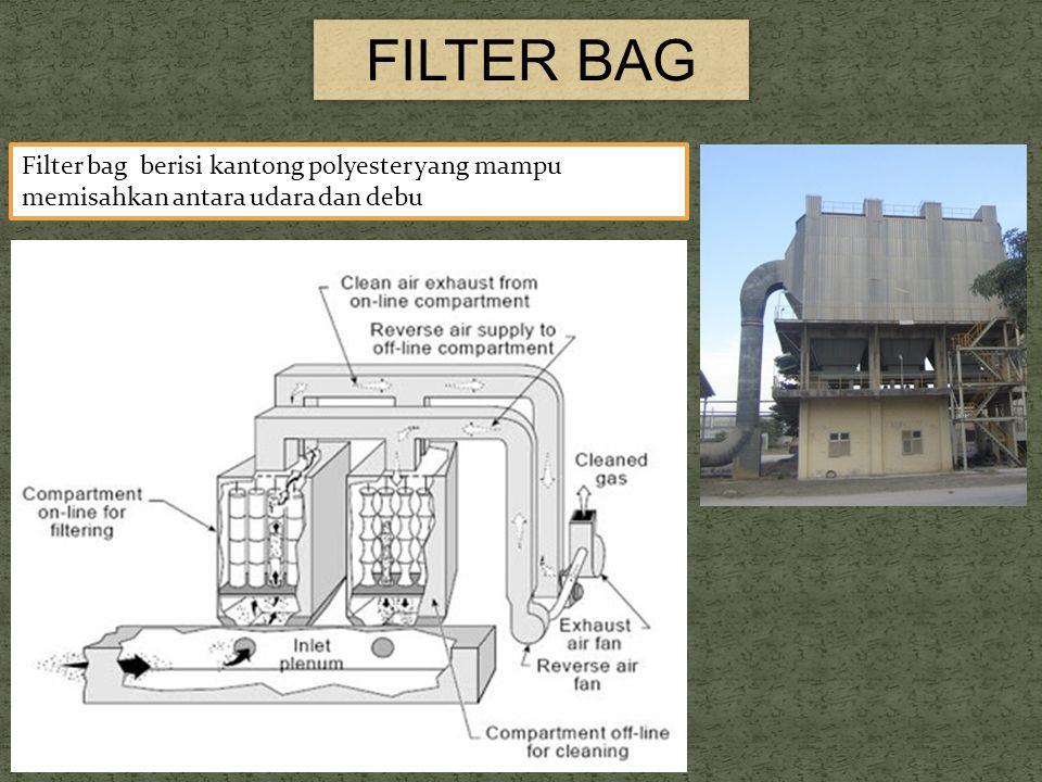 FILTER BAG Filter bag berisi kantong polyester yang mampu memisahkan antara udara dan debu