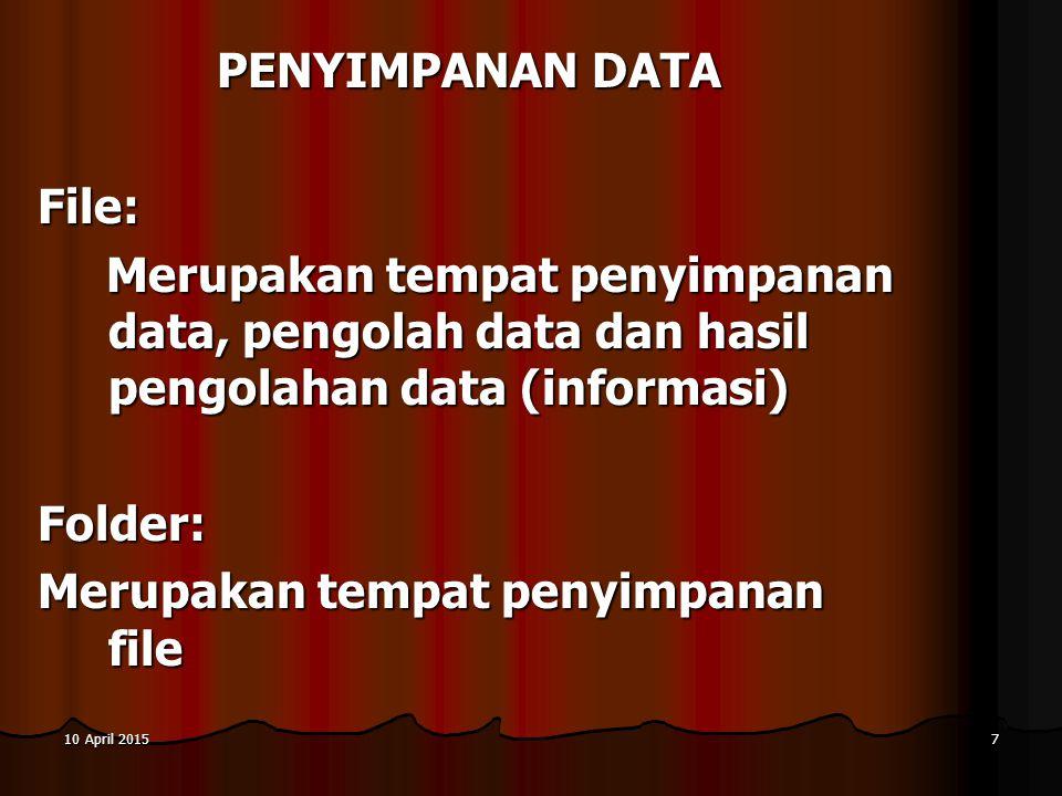 10 April 201510 April 201510 April 201518 Protokol yaitu suatu kumpulan dari aturan dalam bentuk software yang mengatur hubungan komunikasi data antara alat-alat komunikasi data PROTOKOL UNTUK KOMUNIKASI