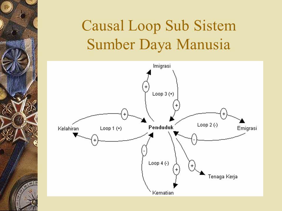 Causal Loop Sub Sistem Sumber Daya Manusia