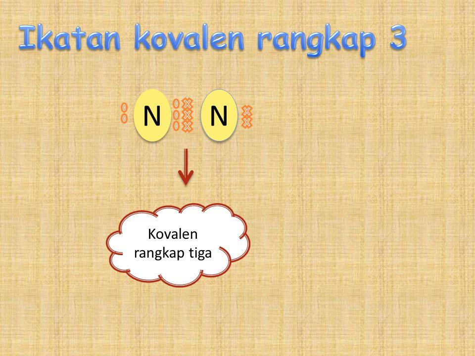 N N N N Kovalen rangkap tiga