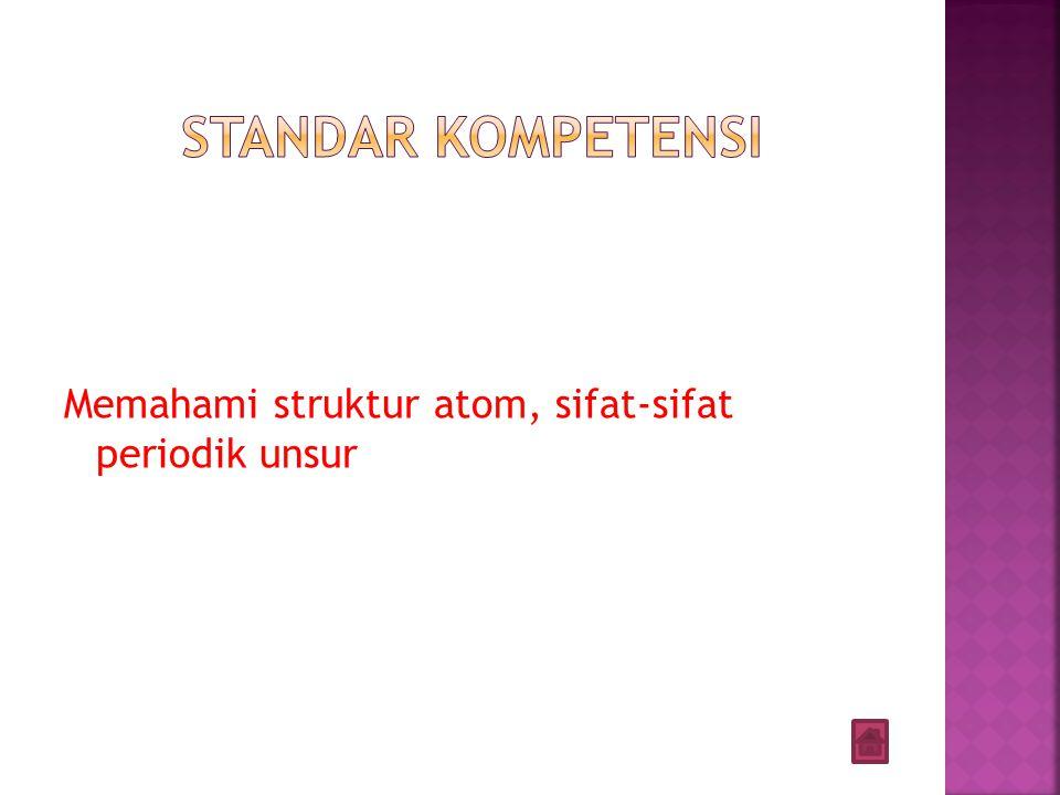 Memahami struktur atom, sifat-sifat periodik unsur