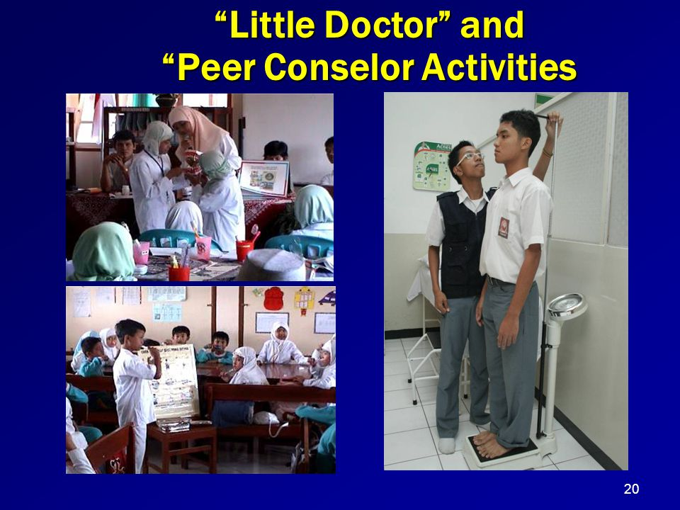 """Little Doctor"" and ""Peer Conselor Activities 20"