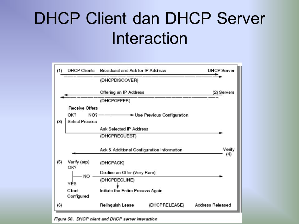 DHCP Client dan DHCP Server Interaction