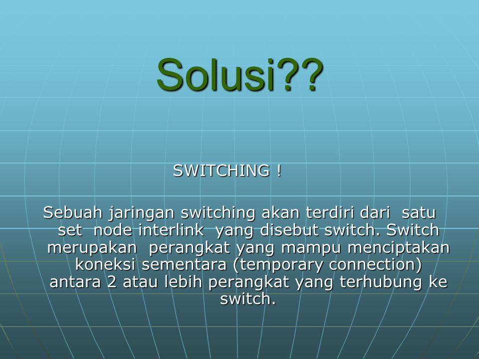 Solusi . SWITCHING .