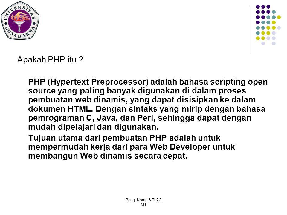 Peng.Komp & TI 2C M1 Apakah PHP itu .