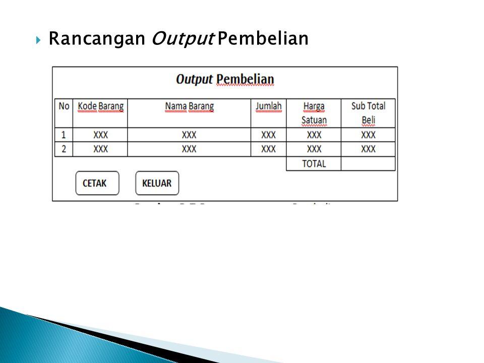  Rancangan Output Pembelian