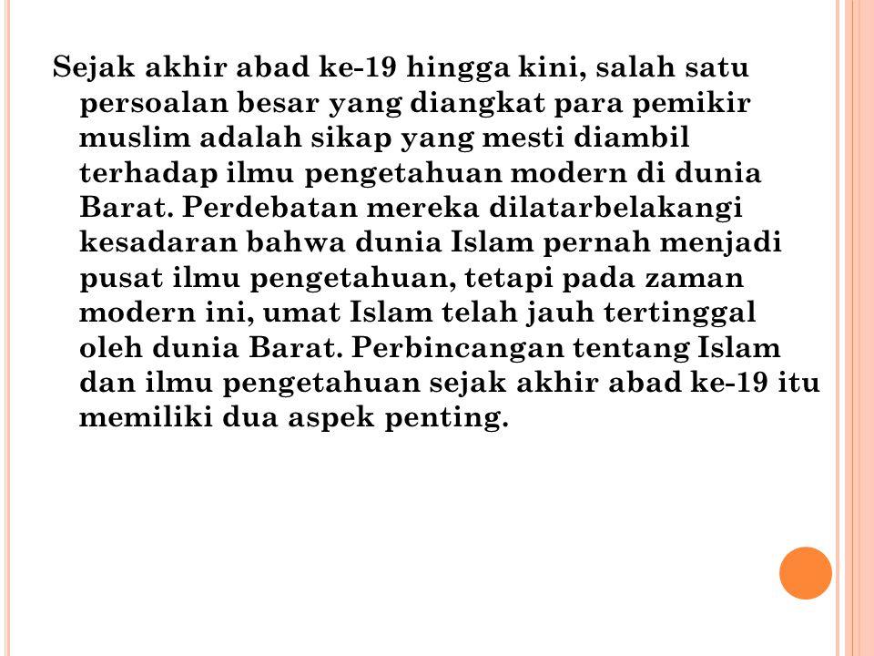 Pertama, periode tersebut ditandai banyak perkembangan baru dalam pemikiran Islam.