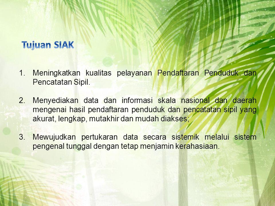 1.Meningkatkan kualitas pelayanan Pendaftaran Penduduk dan Pencatatan Sipil.