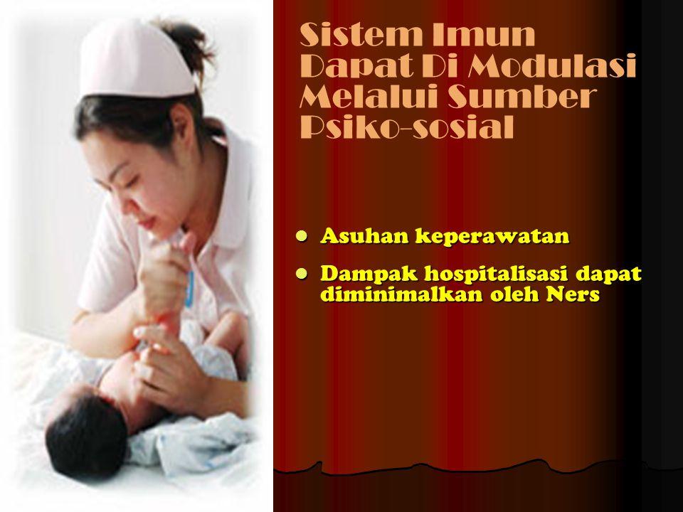 Asuhan keperawatan Asuhan keperawatan Dampak hospitalisasi dapat diminimalkan oleh Ners Dampak hospitalisasi dapat diminimalkan oleh Ners Sistem Imun