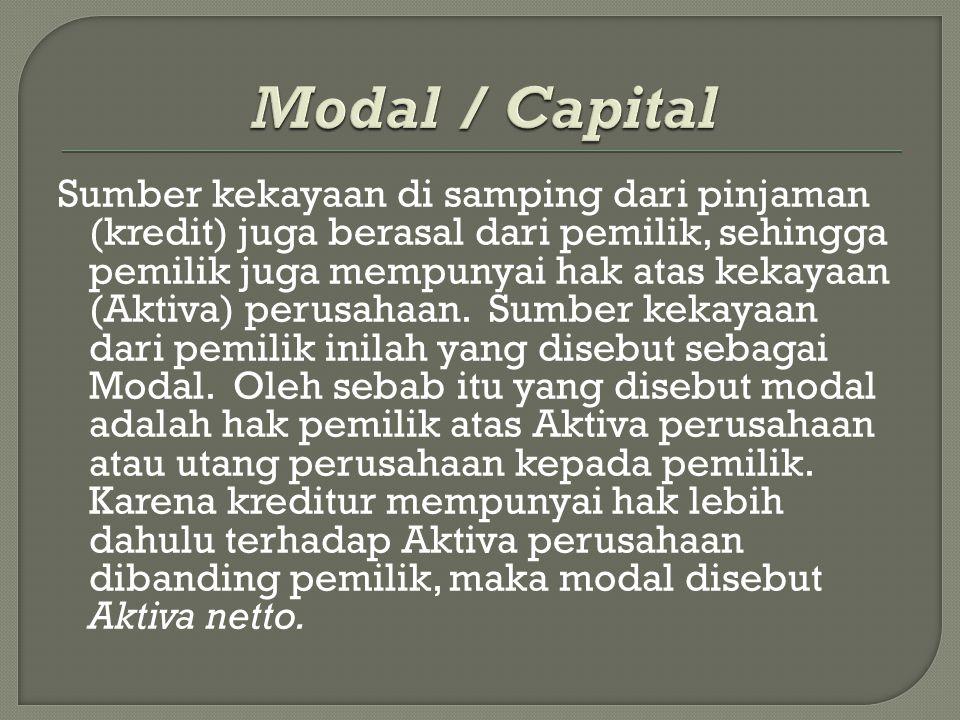 akun nominal merupakan akun yang disajikan dalam laporan laba rugi seperti pendapatan/penjualan, dan beban.