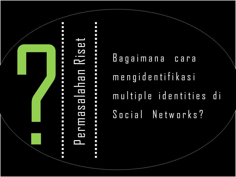 Bagaimana cara mengidentifikasi multiple identities di Social Networks Permasalahan Riset