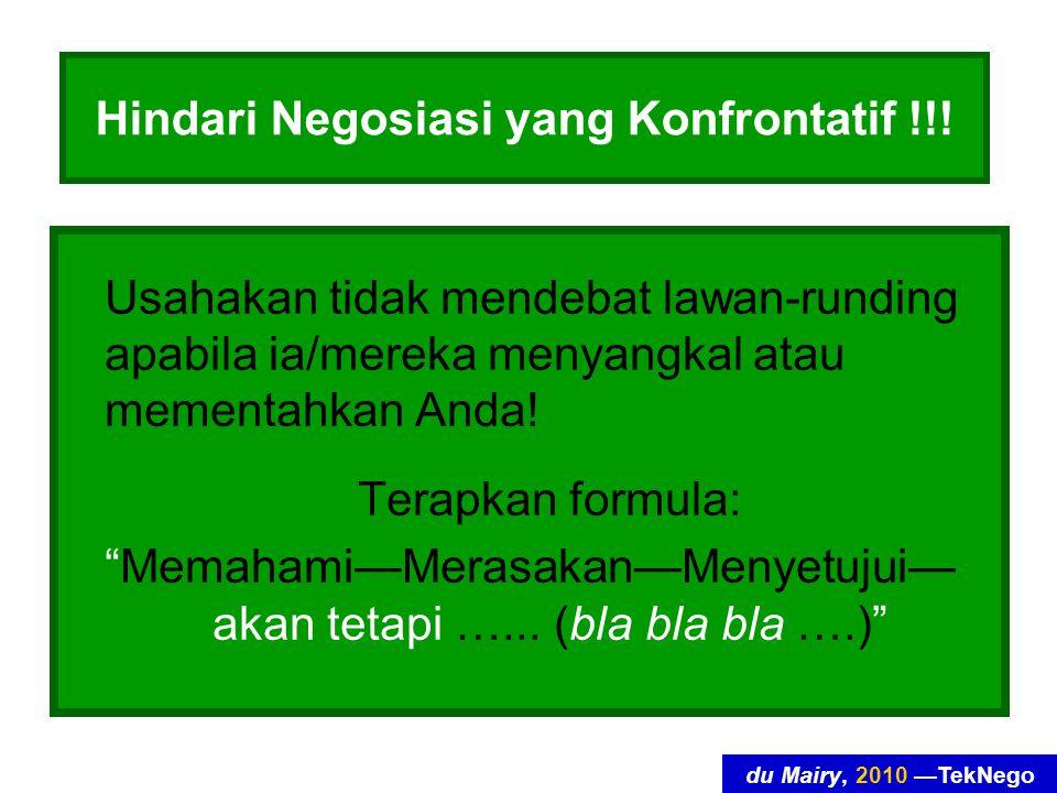 du Mairy, 2010 —TekNego Hindari Negosiasi yang Konfrontatif !!.