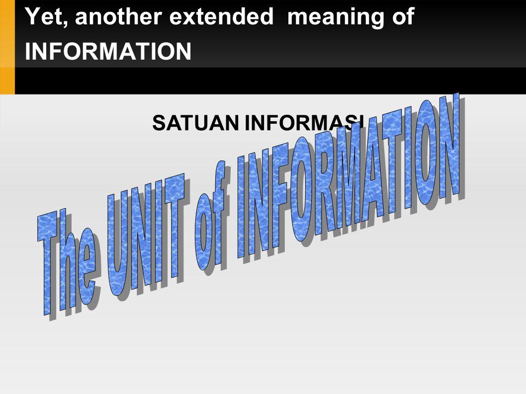 Kapasitas Informasi (Bit Rate) 1 Kbps1000 bit per second 1 Mbps1000 Kbps 1 bps1 bit per second 1 Gbps1000 Mbps