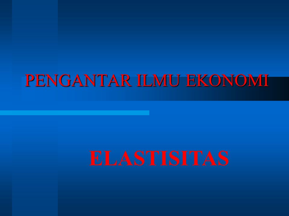 ELASTISITAS HARGA PENAWARAN a measure of how much the quantity supplied of a good responds to a change in the price of that good, computed as the percentage change in quantity supplied divided by the percentage change in price (Mankiw, 2011) measures the responsiveness of the quantity supplied to a change in the price of a good when all other influences on selling plans remain the same (Parkin, 2011)
