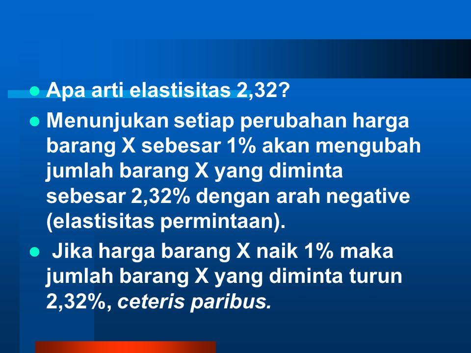 Apa arti elastisitas 2,32.