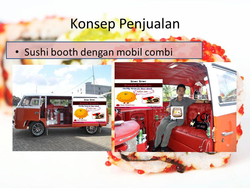Konsep Penjualan Sushi booth dengan mobil combi