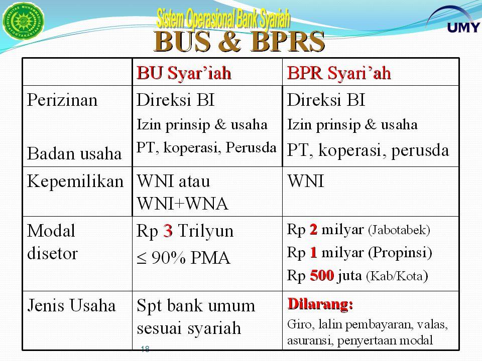 17 Dewan Pengawas Syariah (DPS) dan Dewan Syariah Nasional (DSN) DPS wajib mengikuti fatwa dari DSN DPS adalah dewan yang ditempatkan di Bank Syariah