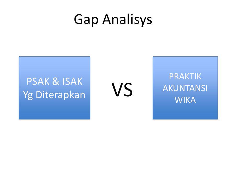Gap Analisys PSAK & ISAK Yg Diterapkan PSAK & ISAK Yg Diterapkan VS PRAKTIK AKUNTANSI WIKA PRAKTIK AKUNTANSI WIKA