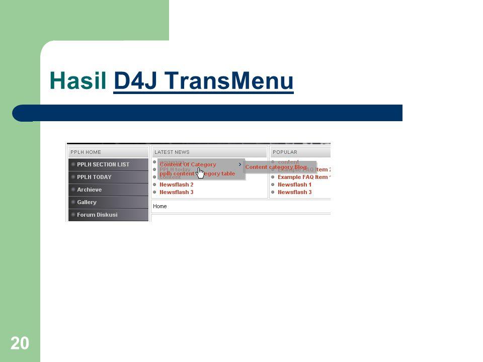 20 Hasil D4J TransMenuD4J TransMenu