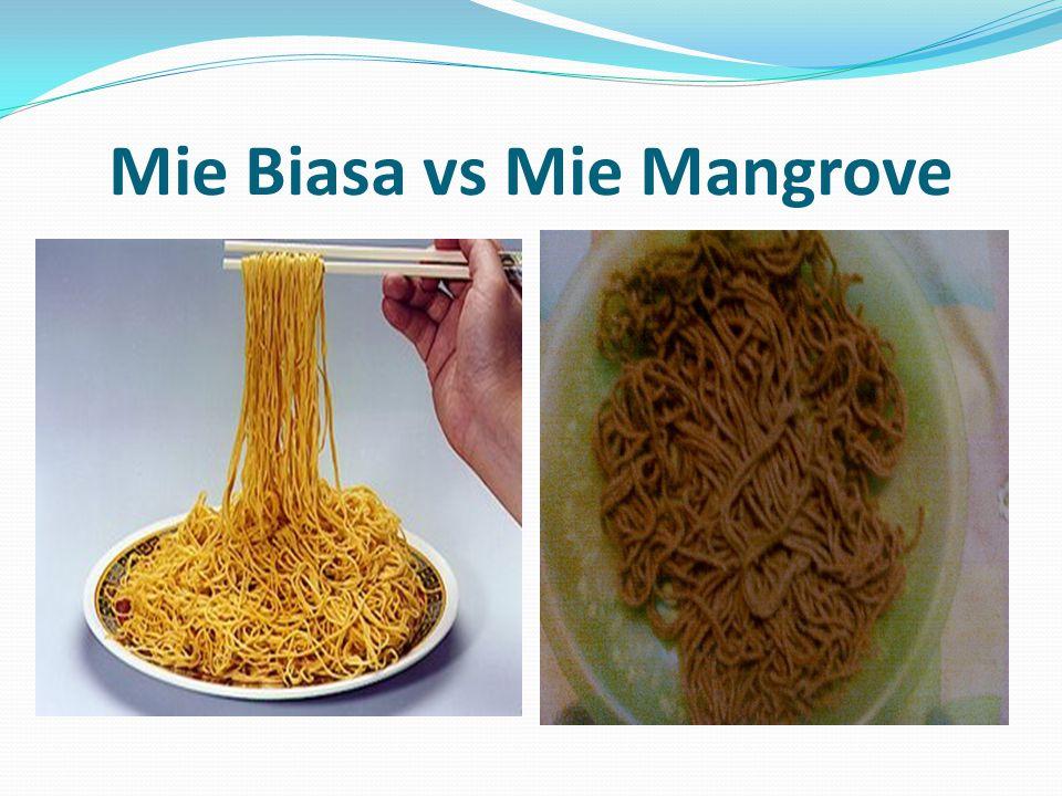 Mie Biasa vs Mie Mangrove