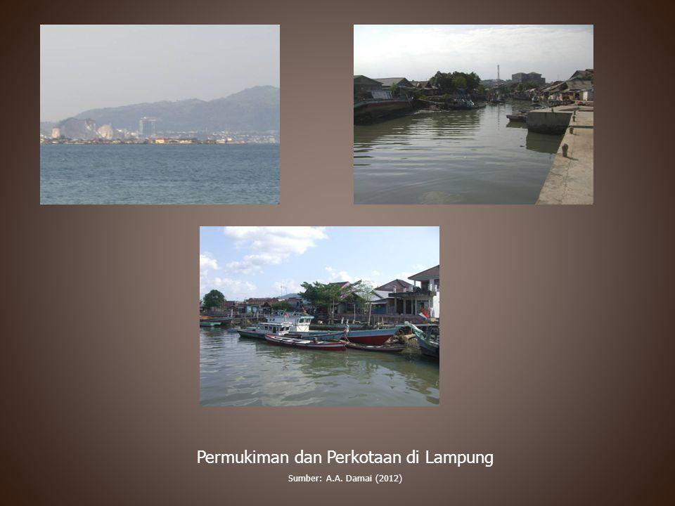 Permukiman dan Perkotaan di Lampung Sumber: A.A. Damai (2012)