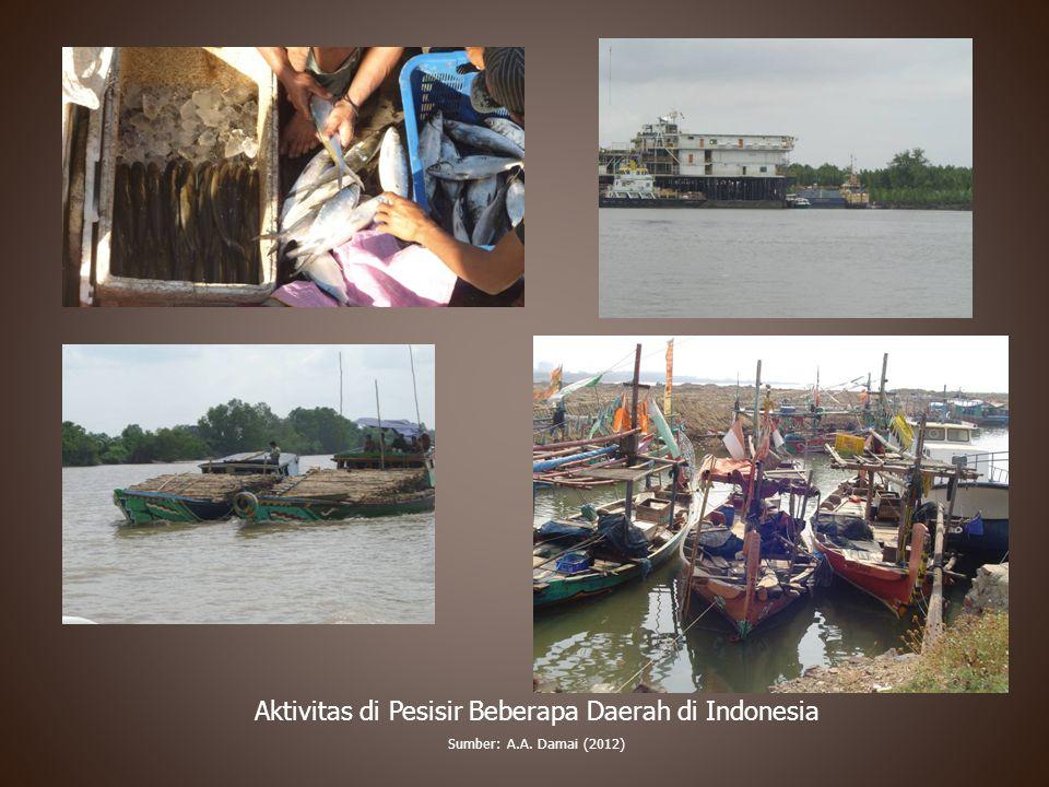Aktivitas di Pesisir Beberapa Daerah di Indonesia Sumber: A.A. Damai (2012)