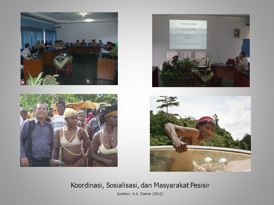 Koordinasi, Sosialisasi, dan Masyarakat Pesisir Sumber: A.A. Damai (2012)