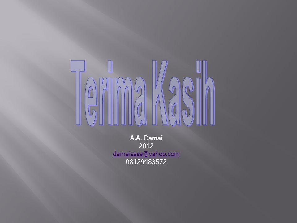 A.A. Damai 2012 damaisasa@yahoo.com 08129483572
