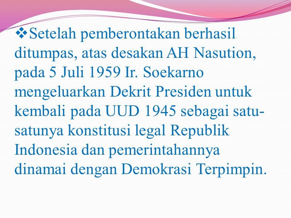  Selanjutnya pada masa Orde Baru, Soeharto mengambil Pancasila sebagai dasar negara dan ini merupakan cara yang paling tepat untuk melegitimasi kekuasaannya.