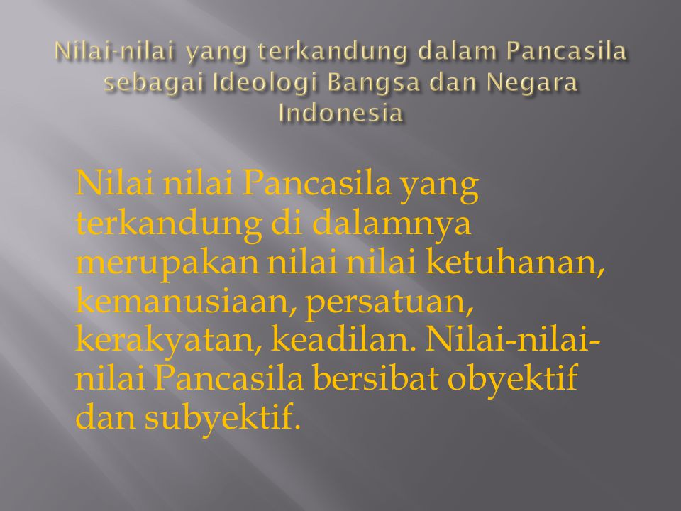 Fungsi Pancasila sebagai Ideologi bangsa dan Negara Indonesia  memperkokoh persatuan bangsa  Mengarahkan bangsa indonesia menuju tujuannya  mengembangkan identitas bangsa  Menjadi standar nilai dalam melakukan kritik