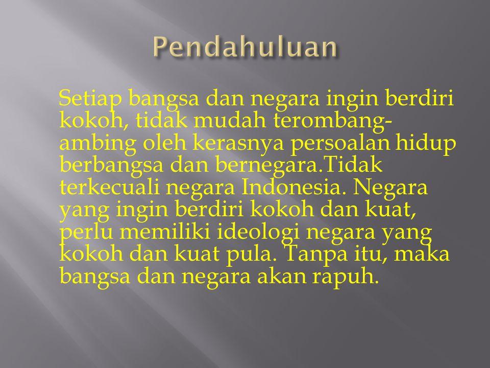  Apa arti Pancasila sebagai Ideologi bangsa dan Negara Indonesia.