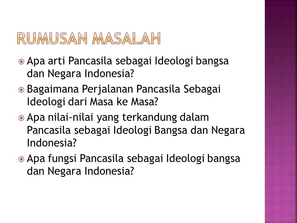 Kamus Bahasa Indonesia Pengertian Ideologi Ideologi berasal dari kata yunani yaitu (Iden) yang berarti melihat, atau idea yang berarti raut muka, perawakan, gagasan buah pikiran dan kata (logi) yang berarti ajaran.