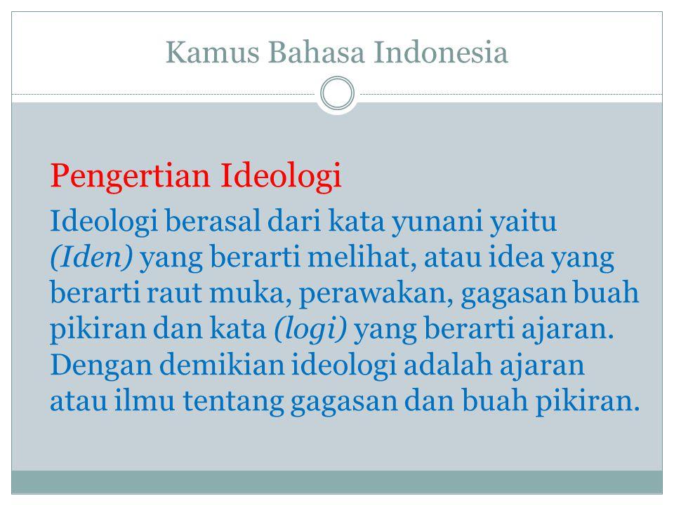 Pancasila sebagai ideologi bangsa dan negara Indonesia yang tak lain adalah ideologi terbuka.