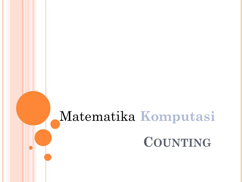 C OUNTING Matematika Komputasi