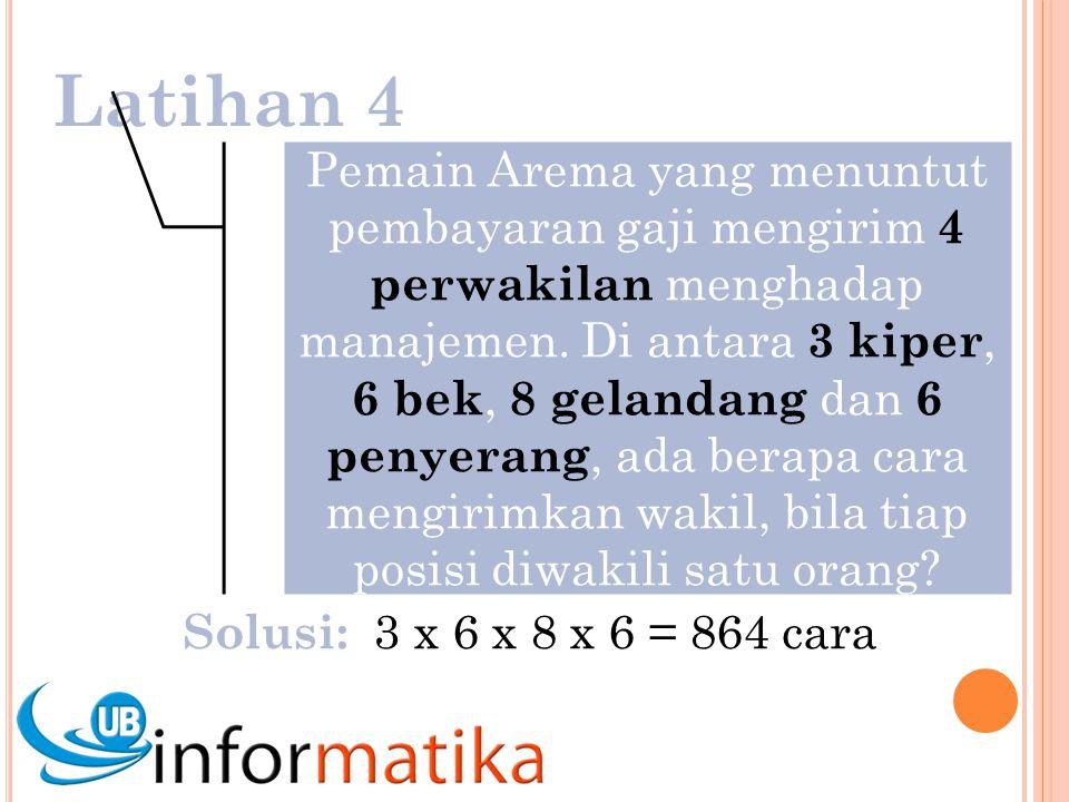 Latihan 4 Pemain Arema yang menuntut pembayaran gaji mengirim 4 perwakilan menghadap manajemen.