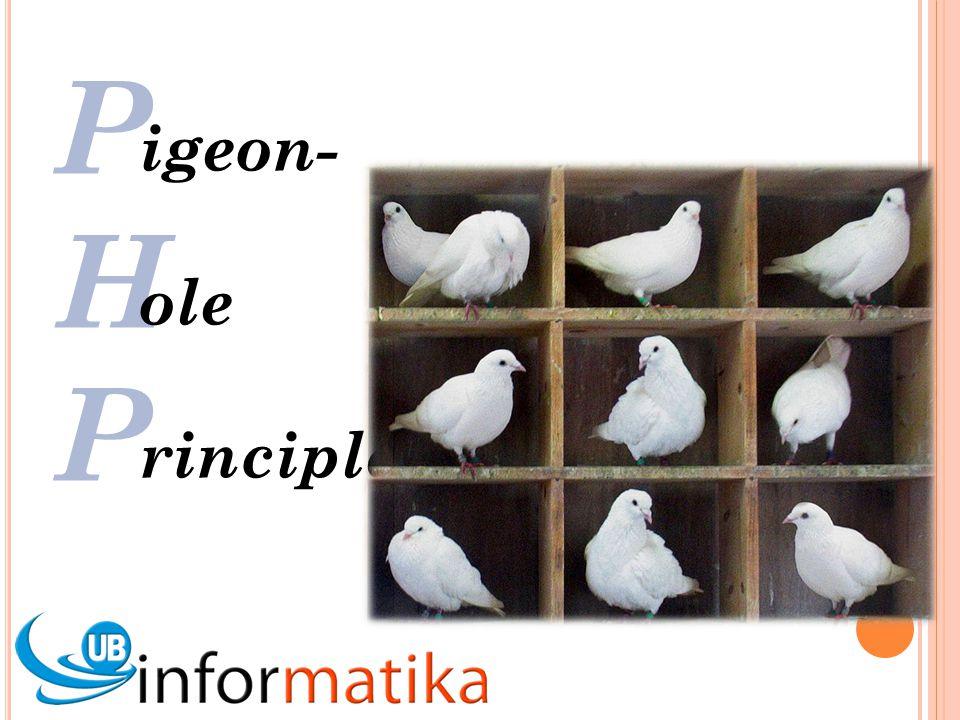 P H P igeon- ole rinciple